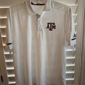 Men's Large Texas A&M Adidas Polo